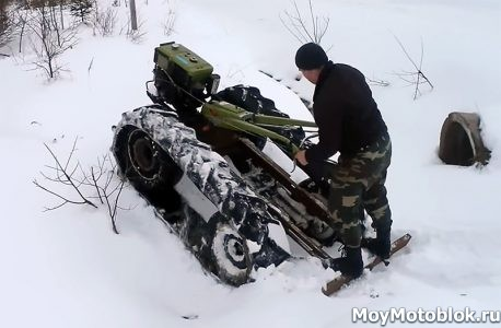 Самодельный снегоход на гусеничном ходу своими руками