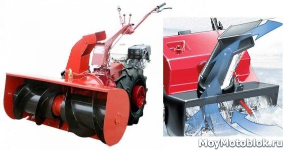 Шнек-ротор для уборки снега для мотоблока