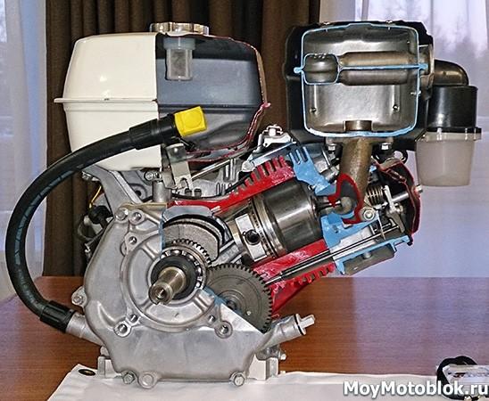 Двигатель Honda GX390 Digital CDI в разрезе