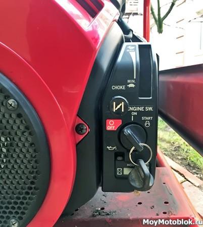 Электростартер на двигателе Honda GX-630