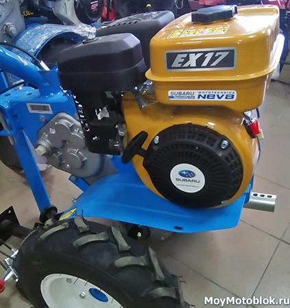 Мотор Robin Subaru EX17 на мотоблоке Нева