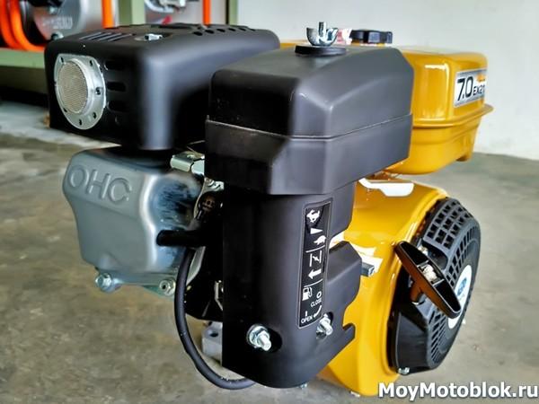 Двигатель Subaru Robin EX21 желтый сбоку