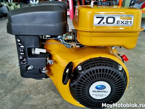 Мотор Subaru Robin EX-21 желтый