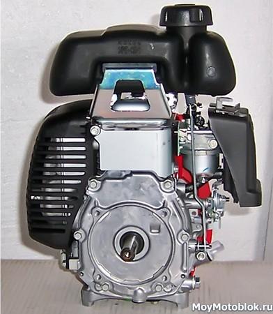 Двигатель Honda GXH50, вид сзади