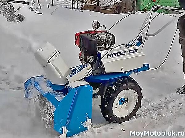 Мотоблоки Нева МБ-23СД: уборка снега