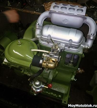 Двигатель СК-12 (СК12): вид сбоку